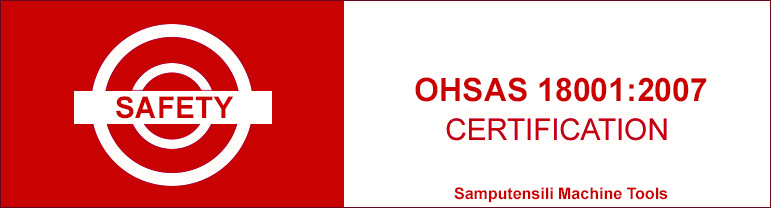Safety certification OHSAS 18001:2007 Samputensili Machine Tools